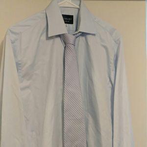 "Ledbury dress shirt, blue, 15.5""& RL Chaps tie"